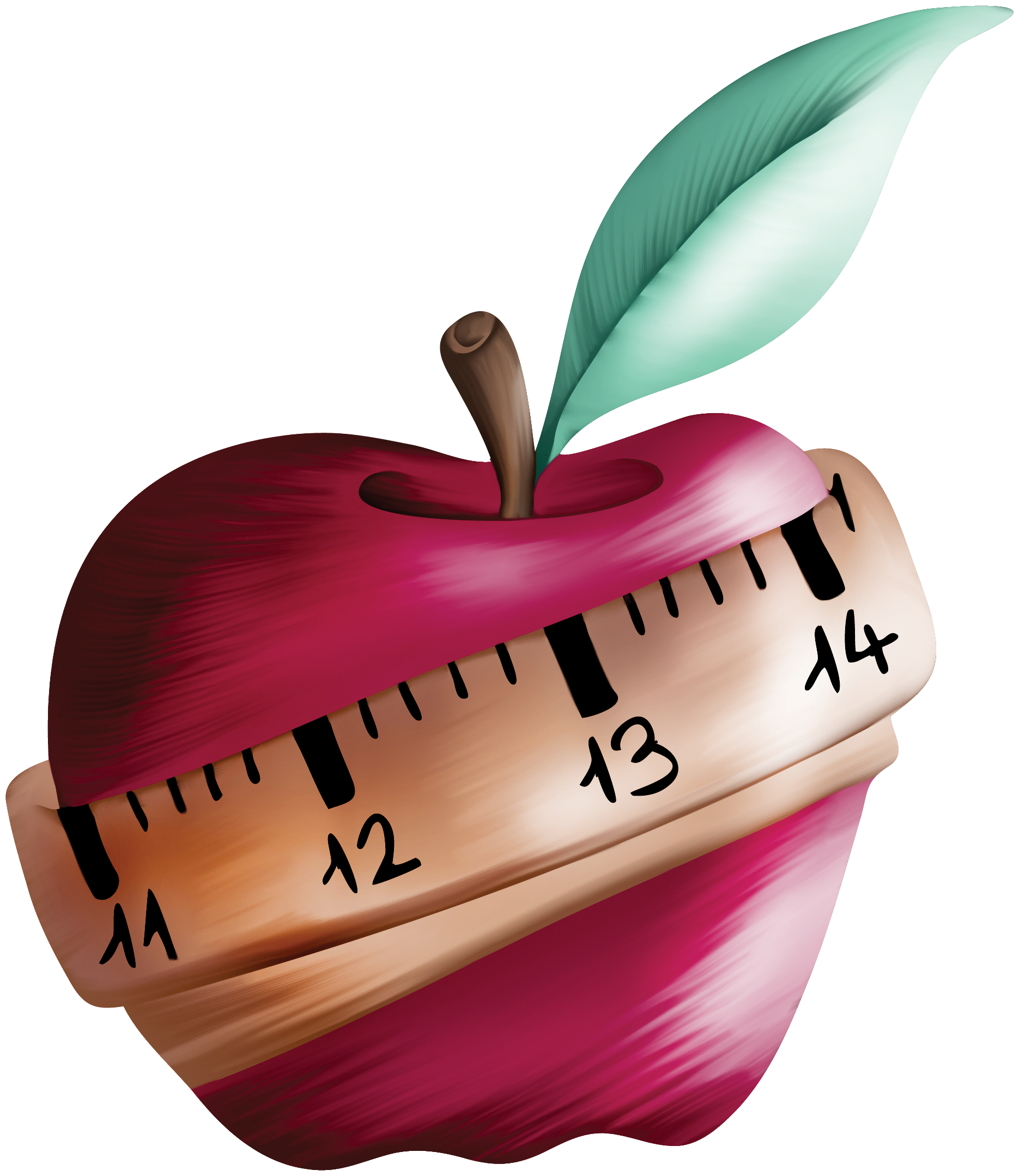 Apple with tape measure clipart picture download Apple Tape Measures Drawing Ribbon - Hand drawn tape Apple 1870*2158 ... picture download