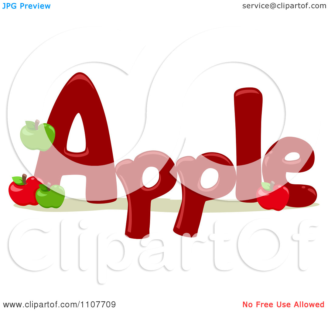 Apple with word apple clipart transparent Word apple clipart - ClipartFest transparent