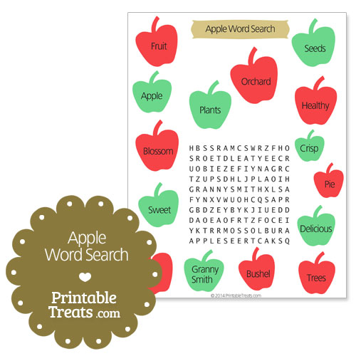 Printable search treats com. Apple with word apple clipart