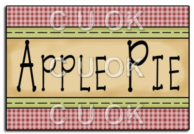 Apple with word apple clipart clipart library REF98 - Apple Pie Word Art - £0.17 : Commercial Use Clip Art clipart library