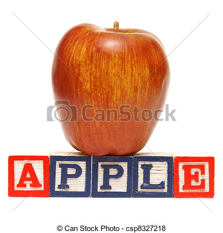 Apple with word apple clipart svg transparent download Pictures of Spelling Apple - Alphabet blocks spell out the word ... svg transparent download