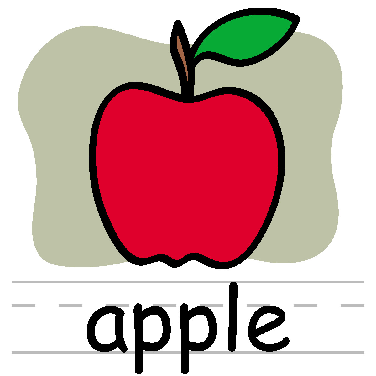 Apple with word apple clipart image Word apple clipart - ClipartFest image