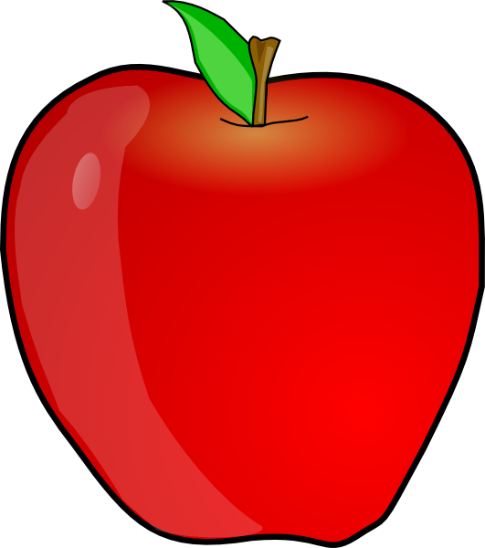 Apple with word apple clipart vector download The picture for the word «Apple, Fruit» - Word Associations Network vector download