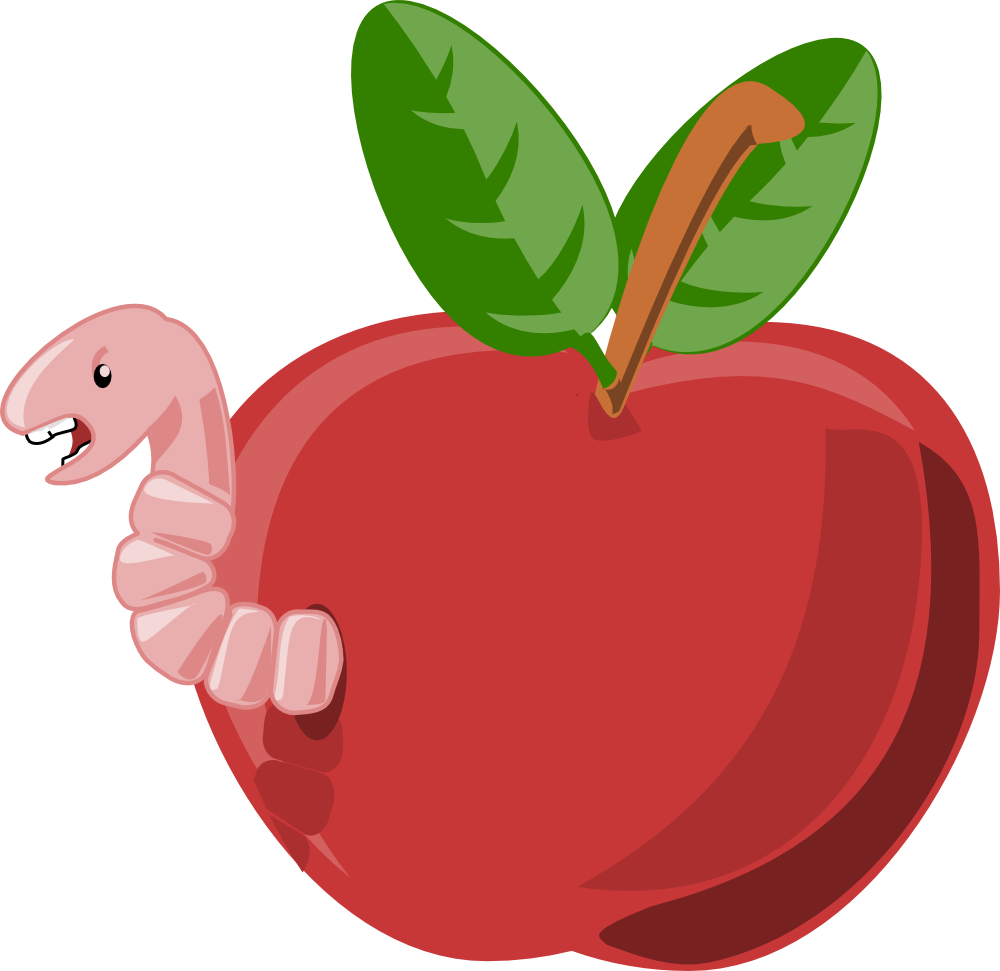 Number one apple clipart vector Apple with word apple and worm clipart - ClipartFest vector