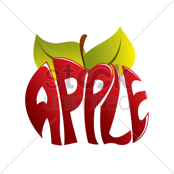 Apple with word apple clipart svg stock Typography of the word apple Vector Image - 1237964 | StockUnlimited svg stock