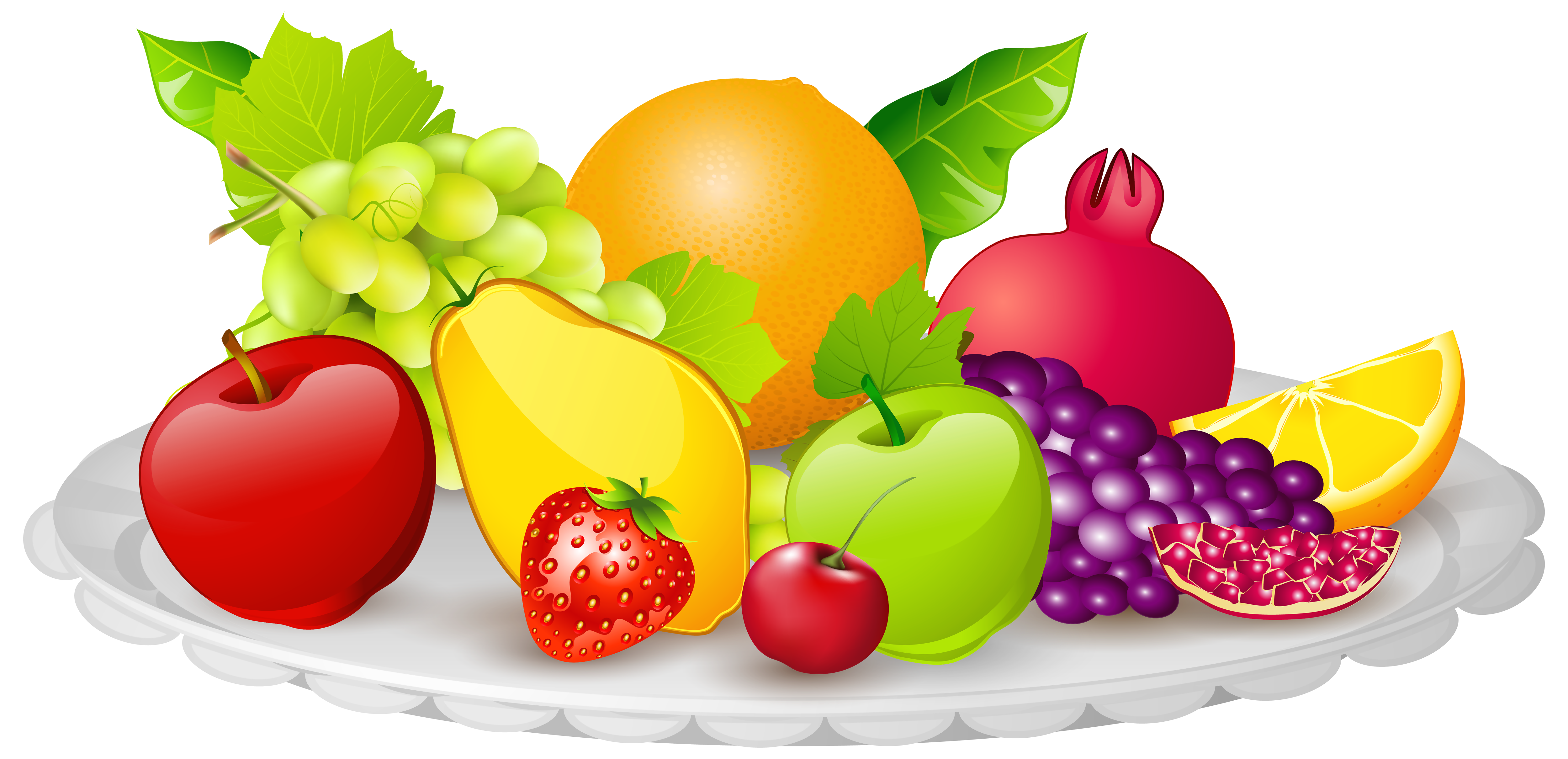 Apple word clipart vector Plate with Fruits PNG Clipart Image | Gallery Yopriceville - High ... vector