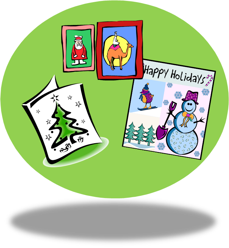 Apple wording clipart png royalty free A Teacher's Idea: What To Write In A Christmas Card png royalty free
