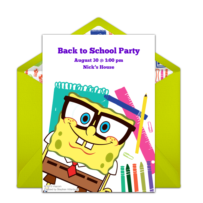 Apple wording clipart svg freeuse library Invitations for Your Back to School Party   School parties and Party ... svg freeuse library