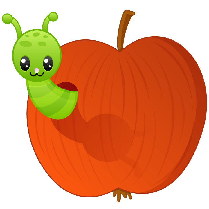 Clipart apple worm clip free library Worm in apple by PollyJuice on DeviantArt clip free library