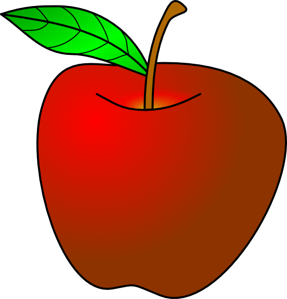 Apple worms clipart clipart library download Apple Turned Slightly Clip Art at Clker.com - vector clip art online ... clipart library download