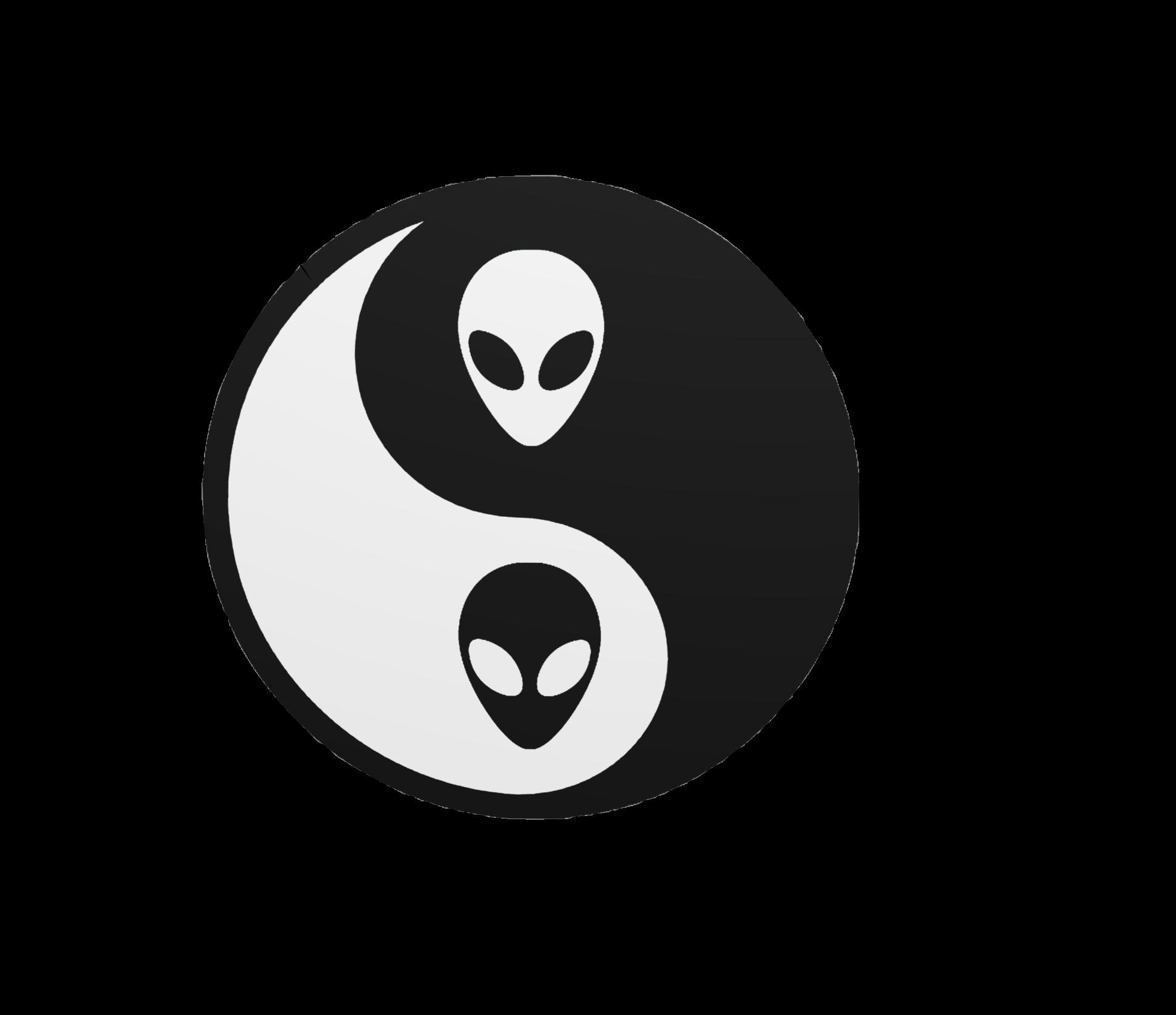 Apple yin yang clipart png Yin and yang Vaporwave Unidentified flying object - yin yang 1908 ... png