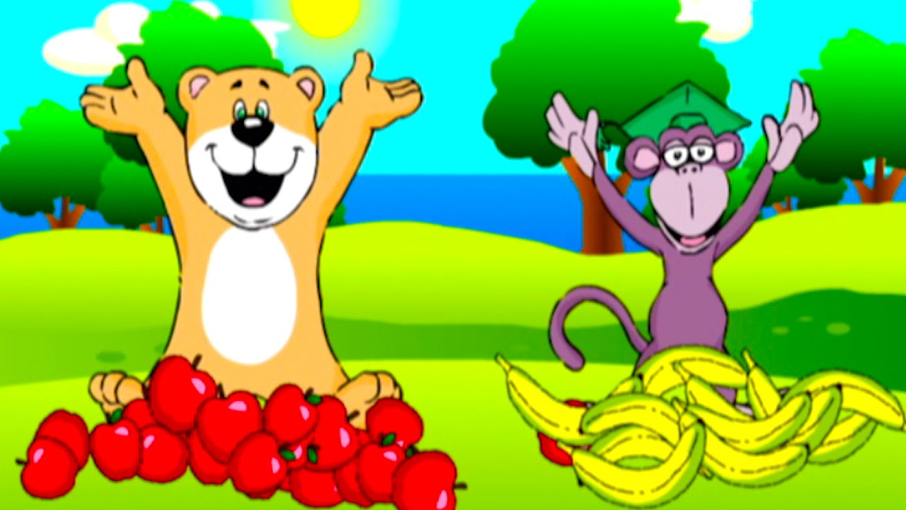 Apples and banana song clipart jpg download Apples and Bananas Song Sing Along | Nursery Rhymes Kids Songs | From Baby  Genius jpg download