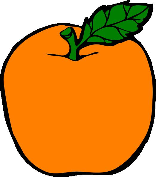 Clipart for apple png download Orange Apple Clip Art at Clker.com - vector clip art online, royalty ... png download