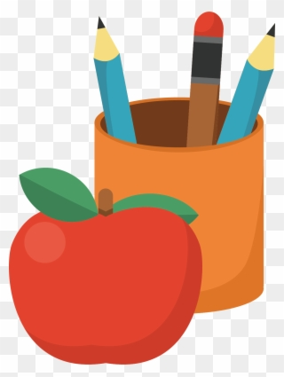 Apples and pincil clipart image freeuse stock Free PNG Apple And Pencil Clipart Clip Art Download - PinClipart image freeuse stock
