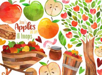 Apples apples clipart clip Watercolor Apples Clipart clip