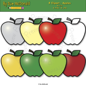 Apples apples clipart clipart stock Clipart - Apples - 8 High Quality Vector Graphics clipart stock