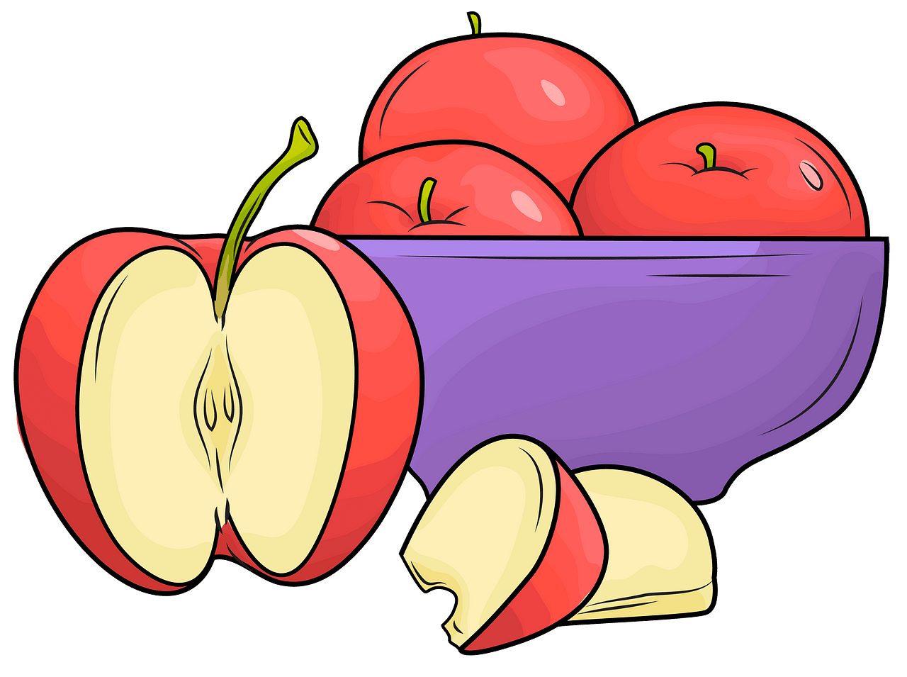 Apples in plate clipart png free A plate of apples clipart. Free download. | Creazilla png free