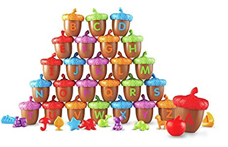 Apples n acorns clipart stock Learning Resources Alphabet Acorns Activity Set, 78 Pieces, Assorted  Colors, Ages 3+ stock