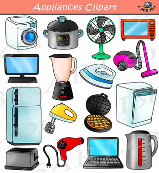 Appliance images clipart banner free Appliances Clipart - Household Electronics Set banner free