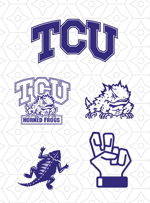 Application to tcu clipart vector transparent TCU Horned Frogs Sports Team Logo Collection by DesignsByTristan ... vector transparent