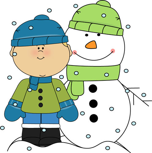 Applique snowman clipart for a white shirt svg black and white stock Boy and Snowman in the Snow Clip Art - Boy and Snowman in the Snow ... svg black and white stock