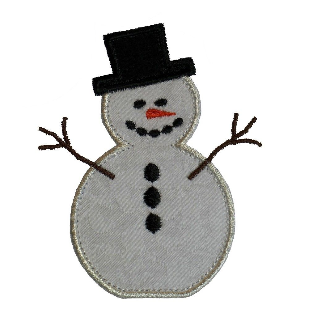Applique snowman clipart for a white shirt graphic library Free Snowman Quilt Patterns   Sewing Projects   Free applique ... graphic library