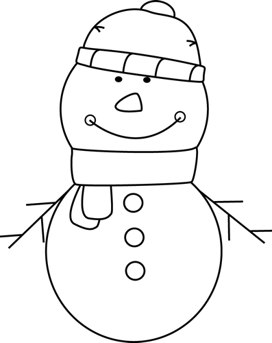 Snowman clipart black and white to color picture black and white library Black and White Snowman Clip Art - Black and White Snowman Image ... picture black and white library