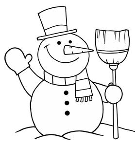 Snowman clipart black and white to color clip art transparent library Snowman Black And White Christmas Gift Clipart - Clipart Kid ... clip art transparent library