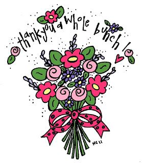 Appreciation flowers clipart png royalty free library Melonheadz Illustrating Thank you! | Melonheads clipart | Clip art ... png royalty free library