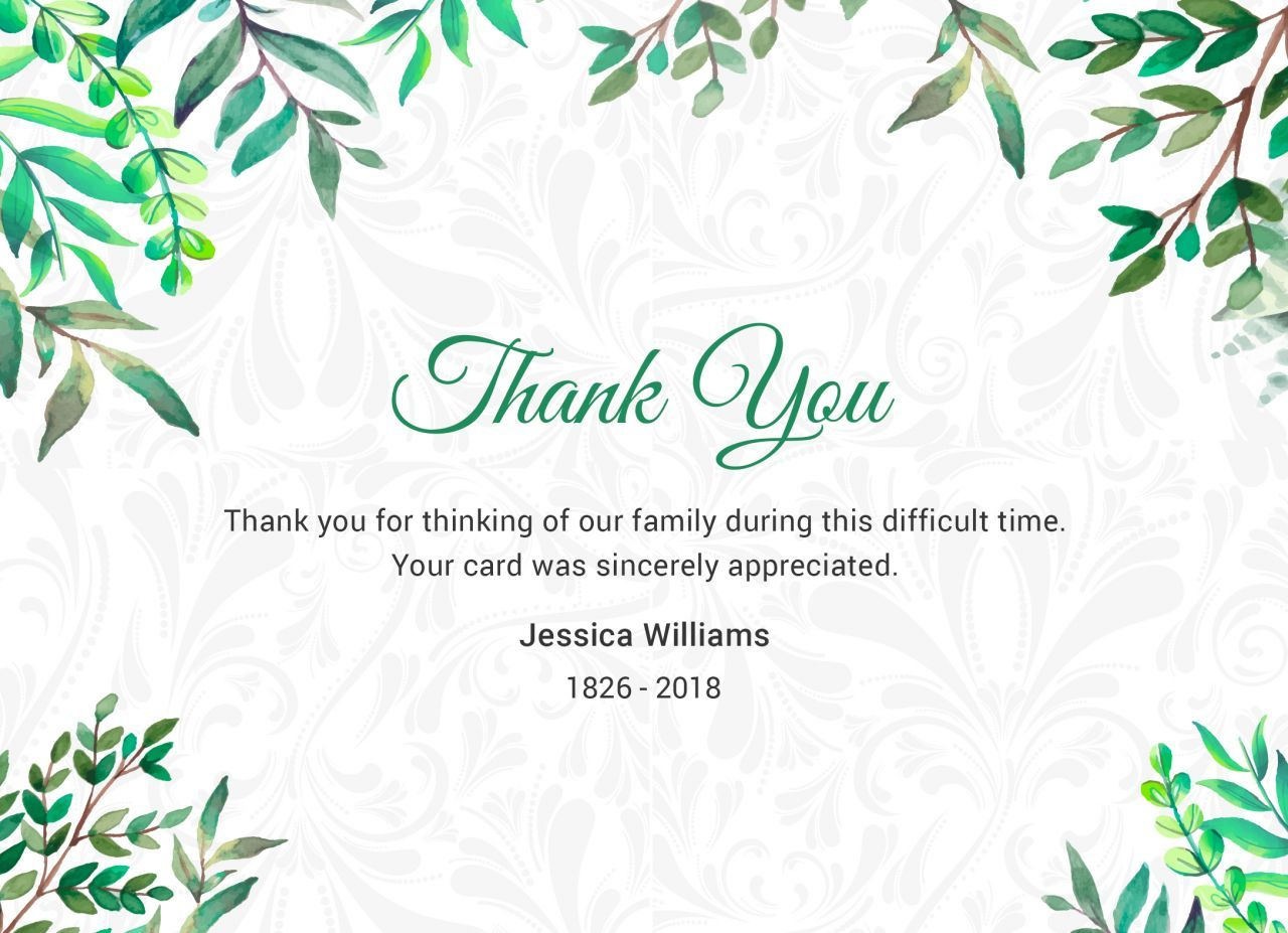 Religious thank you for memorial donation clipart transparent library After the Funeral - Thank You Notes - Quincy, IL Funeral Home ... transparent library