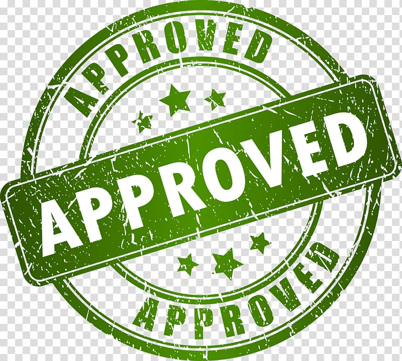 Approved logo clipart