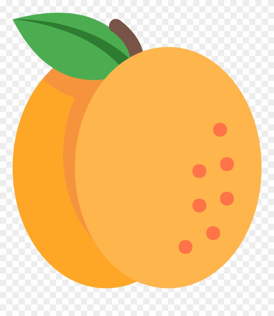 Apricot clipart clipart transparent stock Apricot Icon - Mango Vector Png Clipart (#1416763) - PinClipart clipart transparent stock