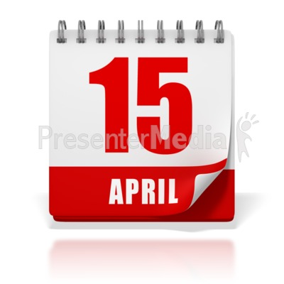 April 15th clipart image stock Office Calendar April 15 Tax Day - Business and Finance - Great ... image stock