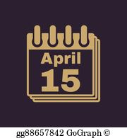 April 15th clipart svg royalty free library April 15 Clip Art - Royalty Free - GoGraph svg royalty free library