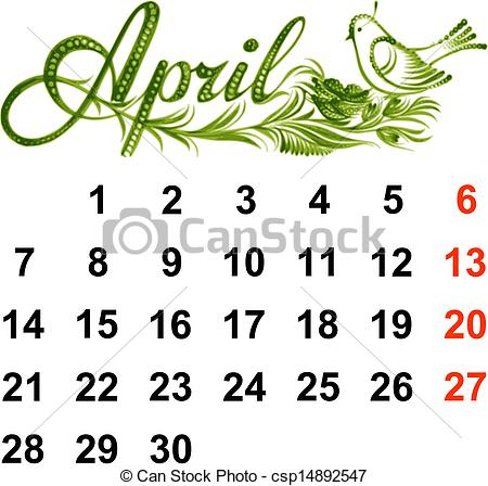 April 2014 calendar clipart clip art transparent April Calendar Clipart - Clipart Kid clip art transparent