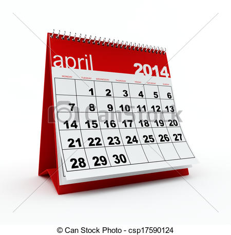 April 2014 calendar clipart svg transparent library Clip Art of April 2014 calendar on white background csp17590124 ... svg transparent library