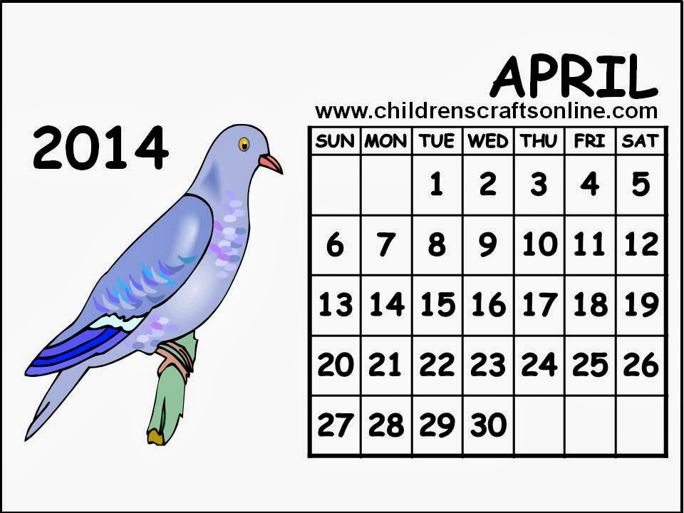 April 2014 calendar clipart jpg free download April Calendar Clipart - Clipart Kid jpg free download