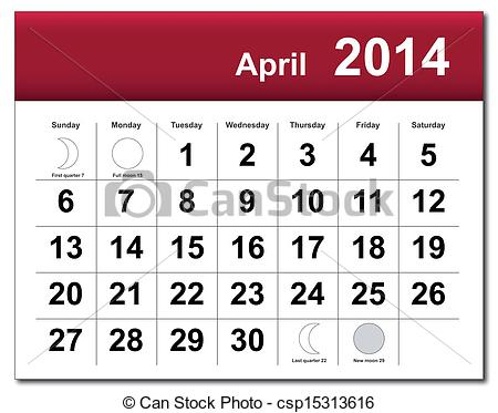 April 2014 calendar clipart banner free download April 2014 calendar clipart - ClipartFest banner free download