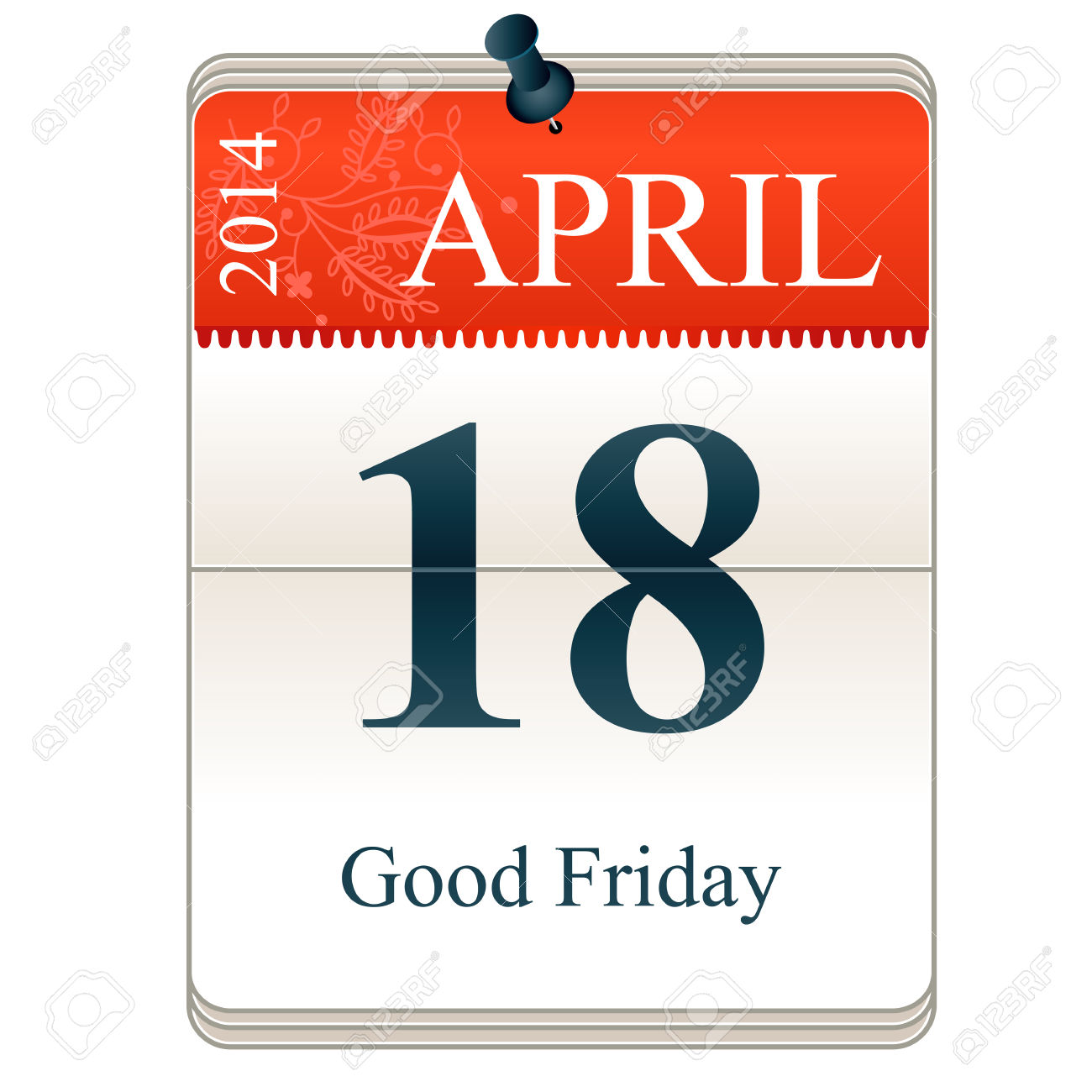 April 2014 calendar clipart clipart royalty free stock Calendar Of Good Friday, 18th April, 2014 Royalty Free Cliparts ... clipart royalty free stock