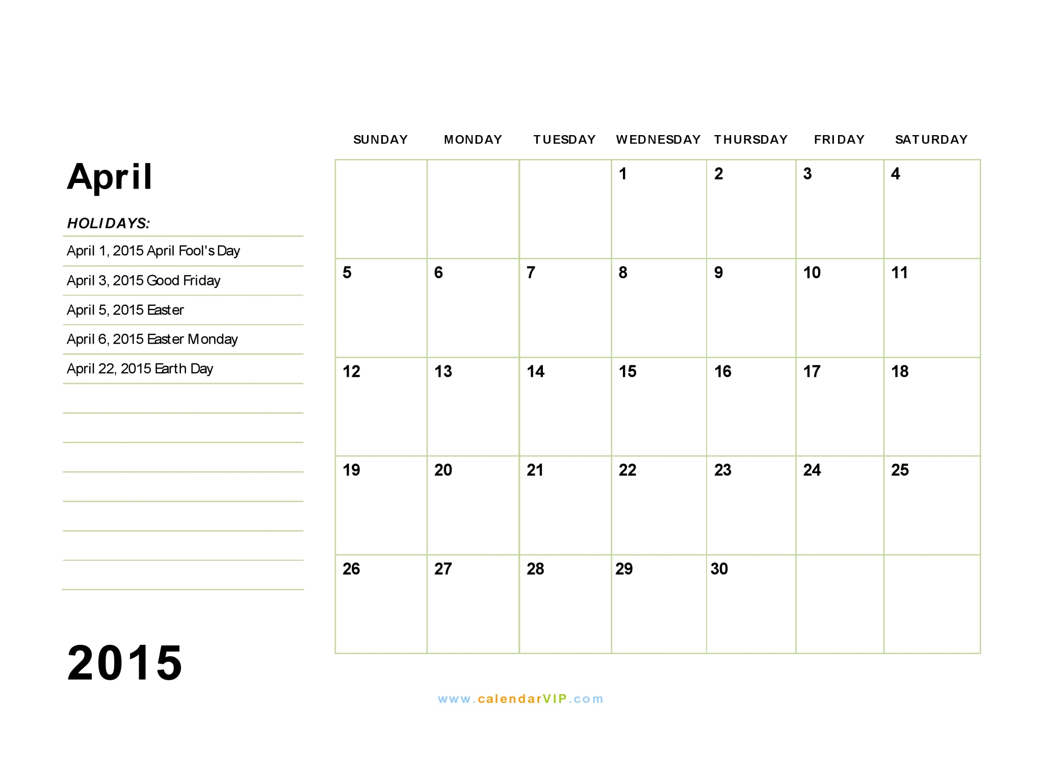 April 2015 calendar clipart png freeuse library Collection Calendar Of April Pictures - Perfect plan for your ... png freeuse library