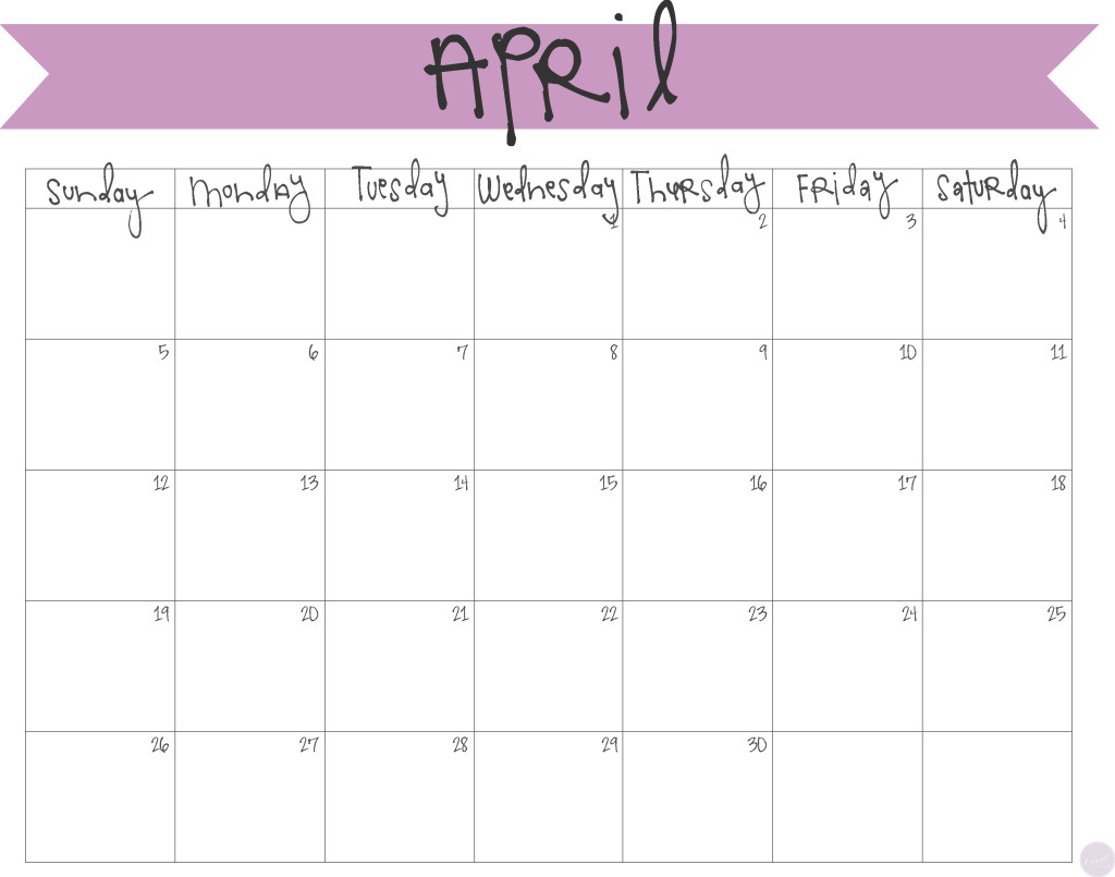 April 2015 calendar clipart. Clipartfest freebie