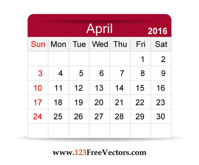 April 2016 calendar clipart clip art black and white stock April 2016 calendar clipart - ClipartFest clip art black and white stock