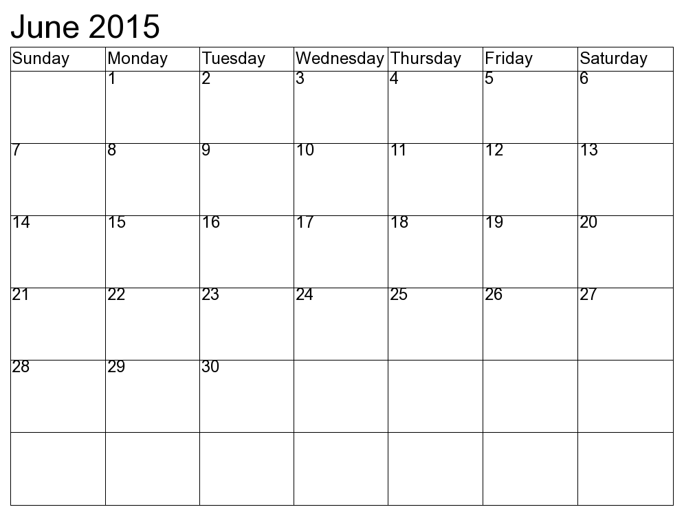 June clipartfest word doc. April 2016 calendar clipart