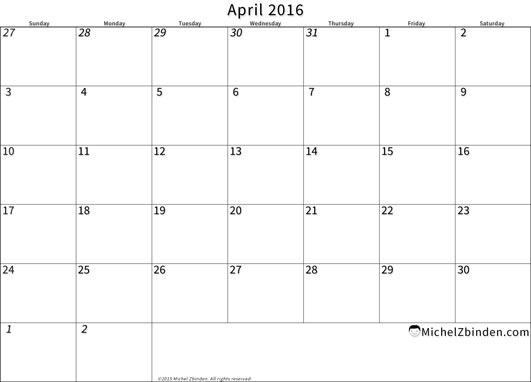 April 2016 calendar clipart banner free stock 2016 Calendar Clip Art banner free stock