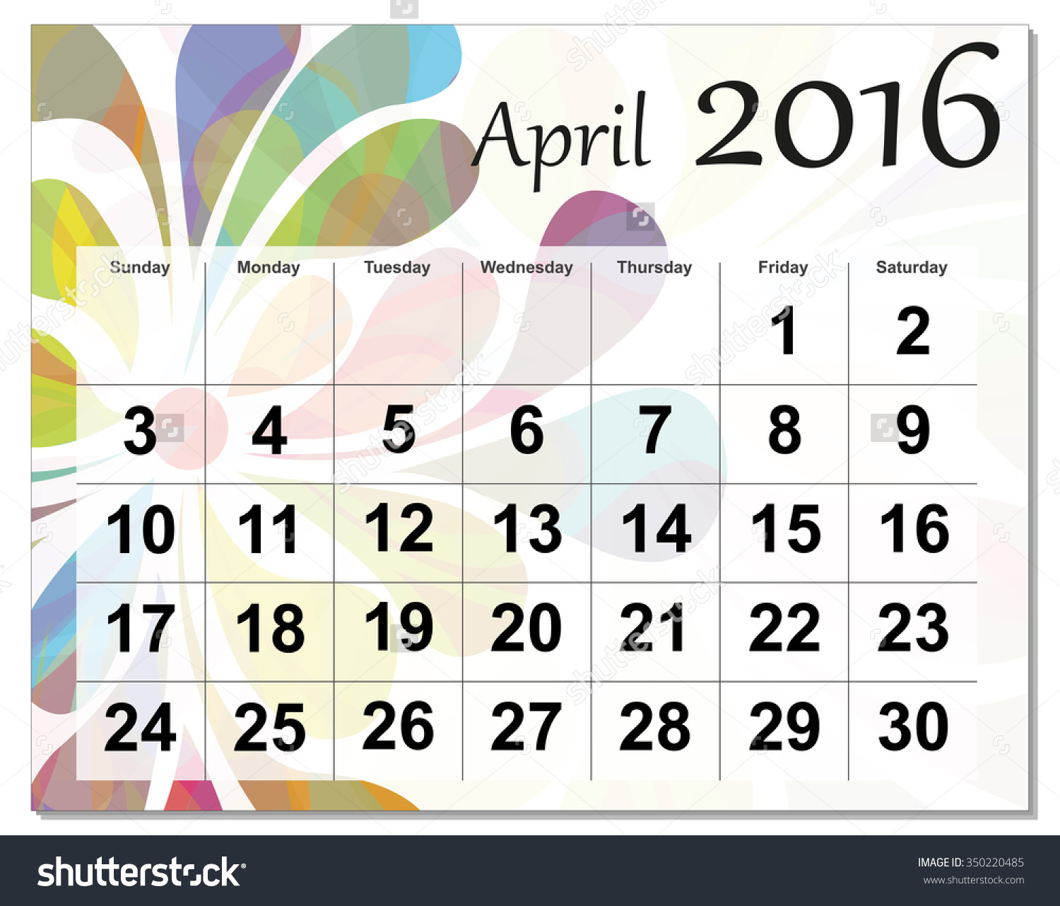 Clipartfest save to a. April 2016 calendar clipart