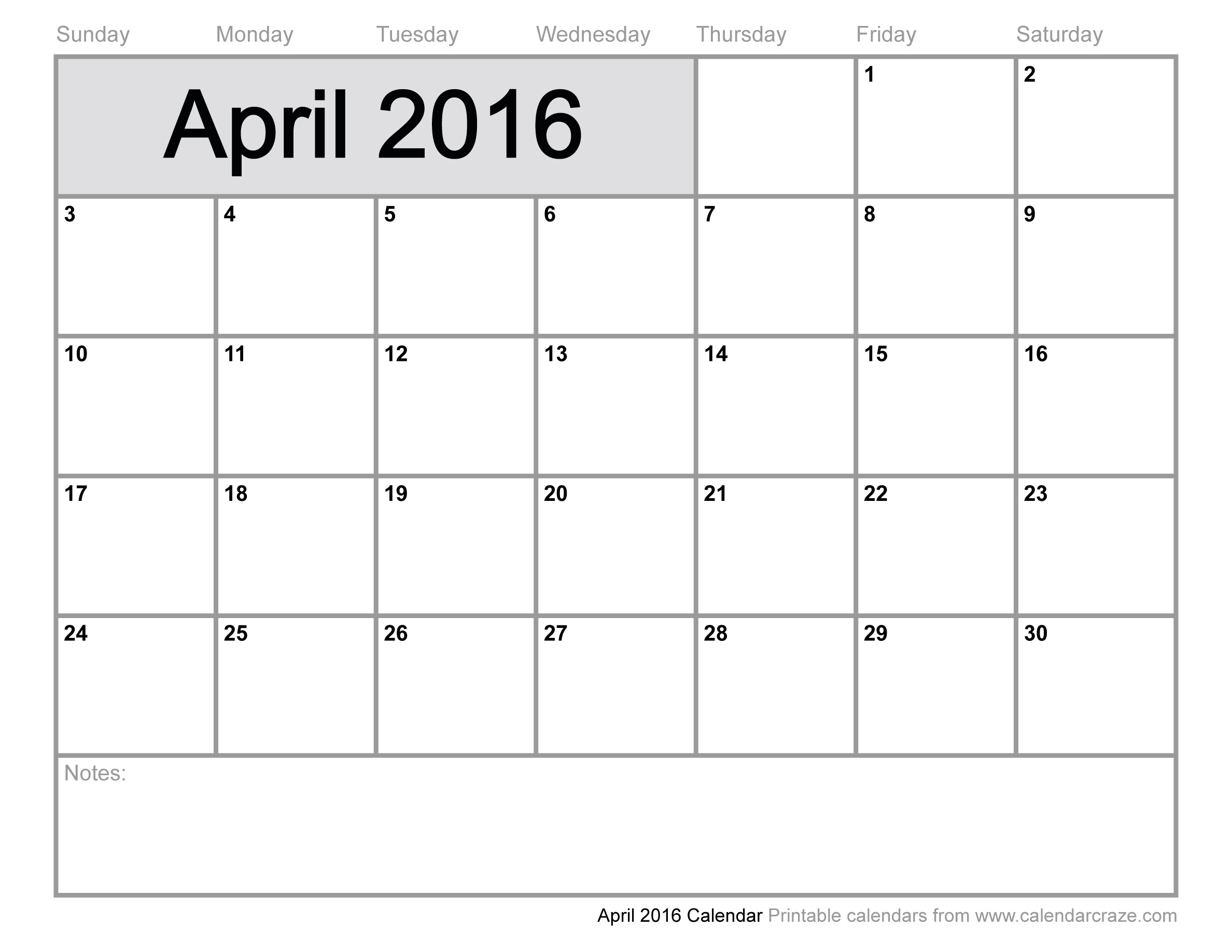 Th clipartfest . April 2016 calendar clipart