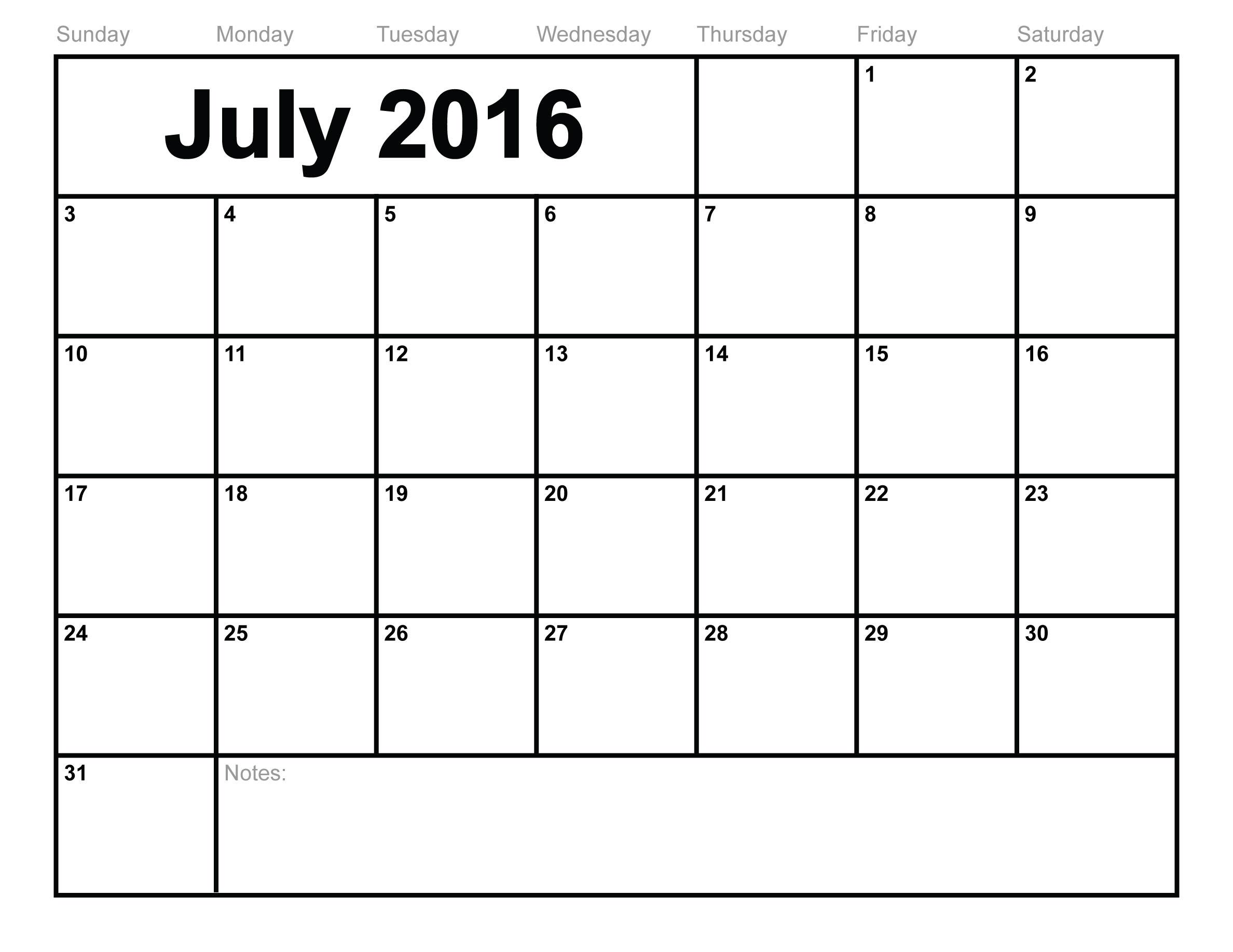 April 2016 calendar clipart banner freeuse download July 2016 Calendar Clipart banner freeuse download
