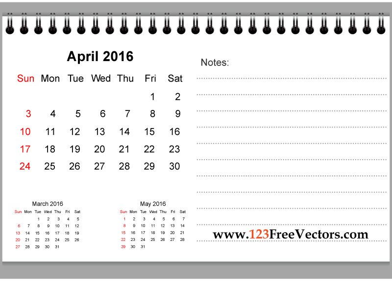 April 2016 calendar clipart image stock April 2016 calendar clipart - ClipartFest image stock