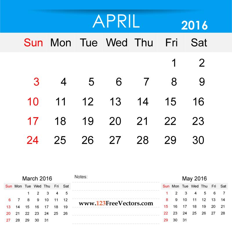 April 2016 calendar clipart clip transparent 2016 Calendar Clip Art clip transparent