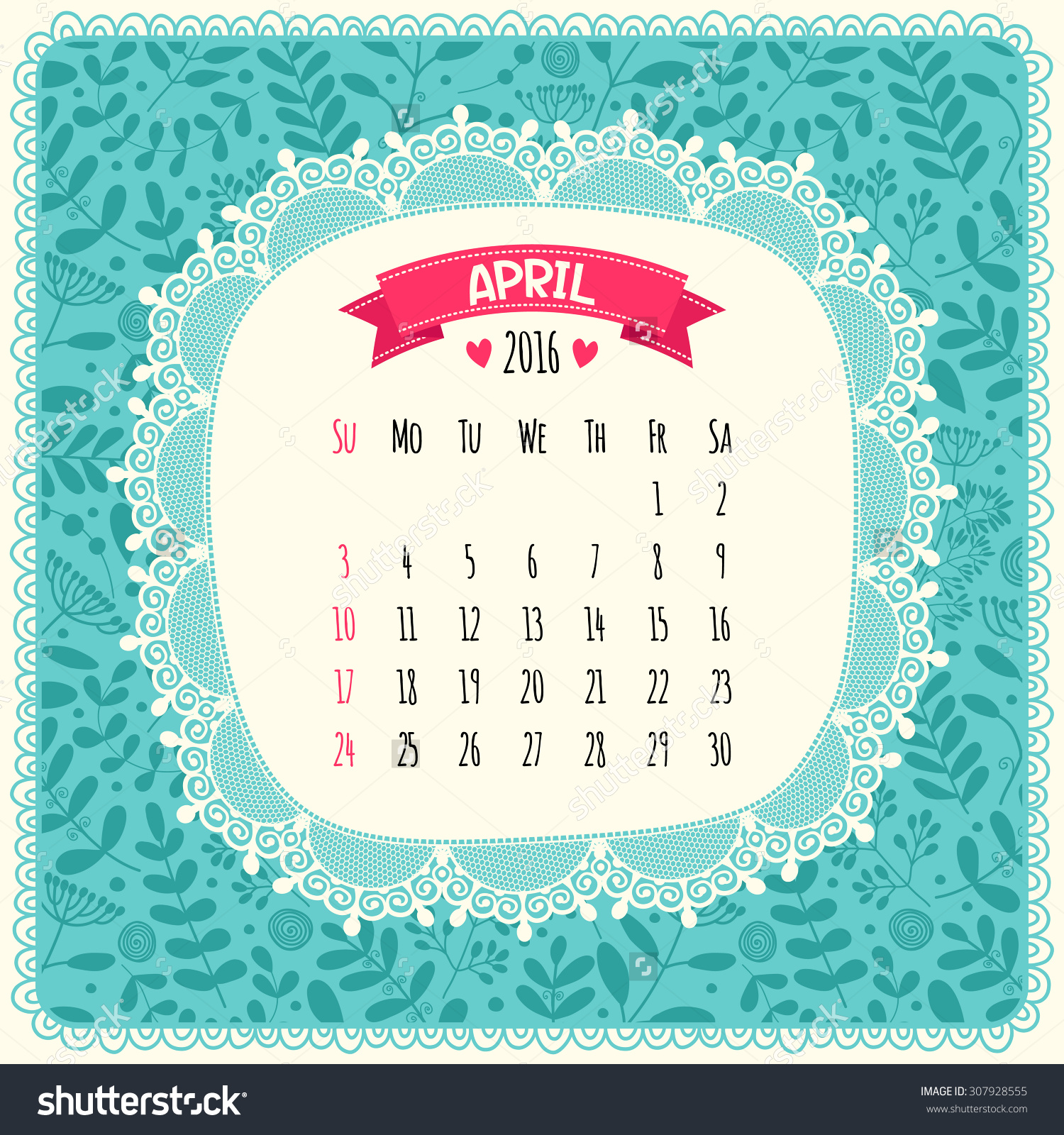 April 2016 calendar with clipart vector library download Calendar 2016 Vector Illustration Sunday Start Stock Vector ... vector library download